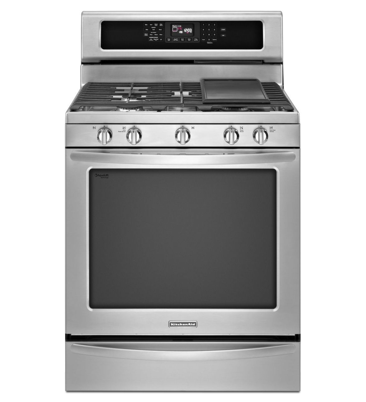 Superieur KitchenAid® 30u0027u0027 5 Burner Gas With Griddle Freestanding Range, Architect®
