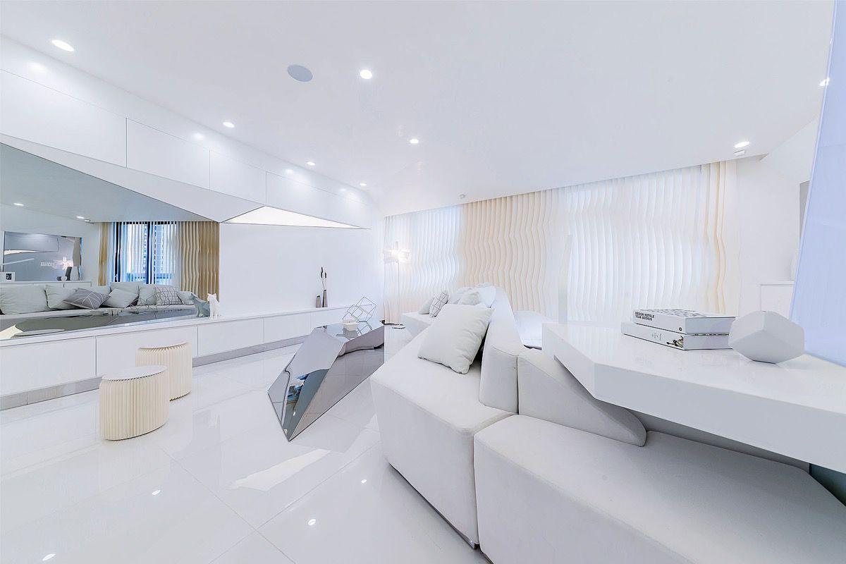 Cool Futuristic Style Home Interiors Futuristic Apt House Design