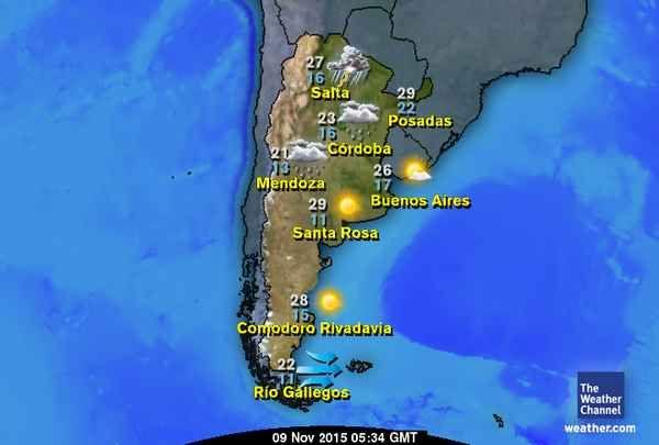 Mapas Climáticos Rio Gallegos The Weather Channel Posadas