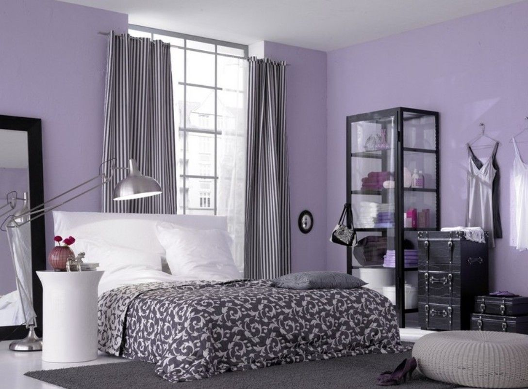 Light Purple Walls Purple Picture Purple Bedroom Design