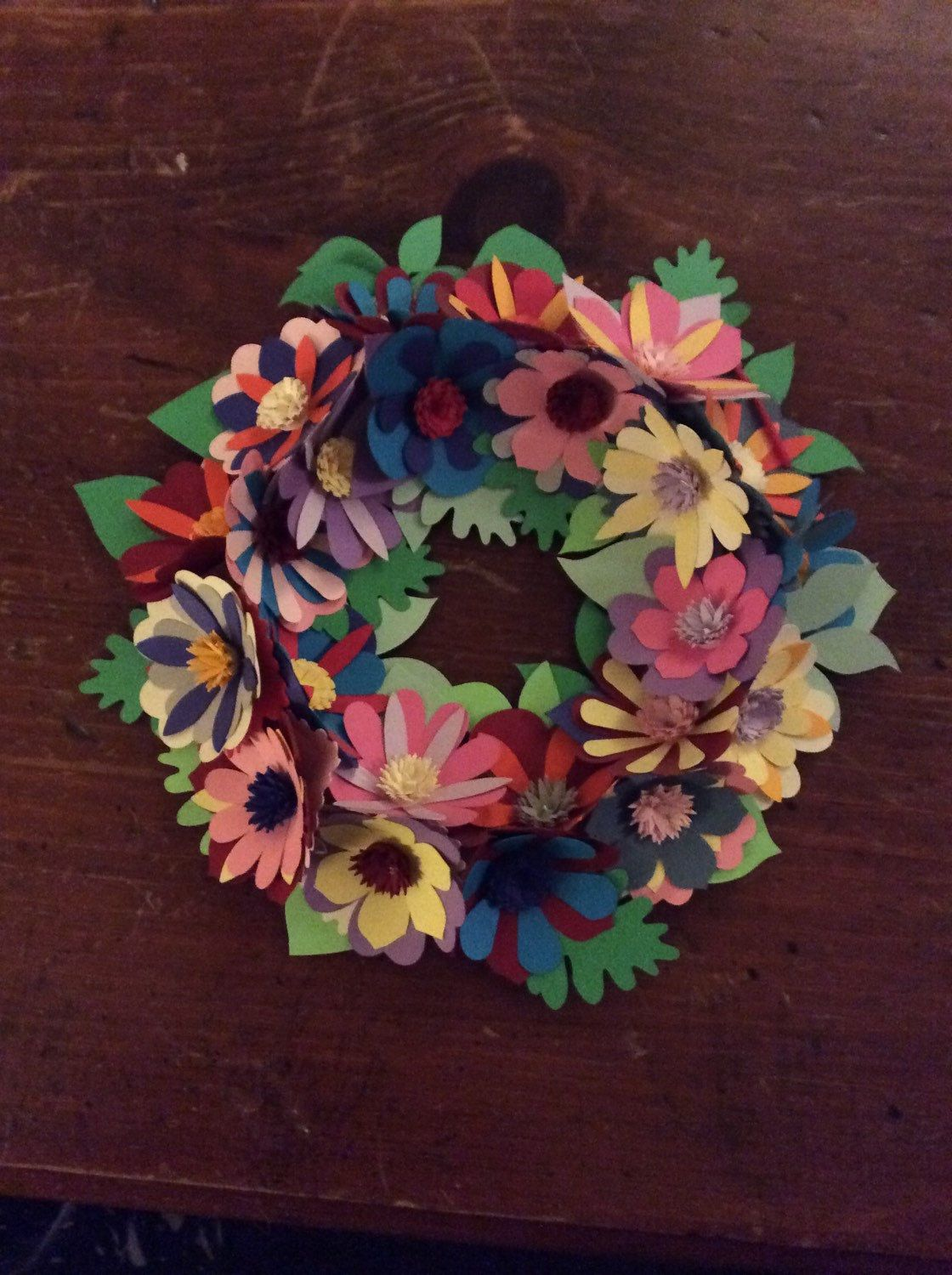 Paper Flower Wall HangingWreath