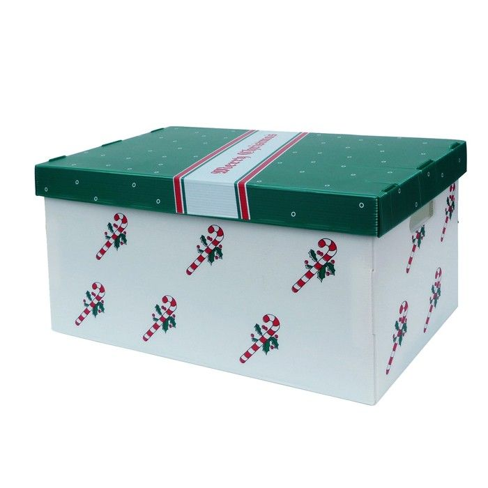Printed Christmas Storage Box   Set Of 2   Organize It All   Neu Home