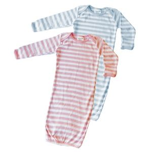 Sweet Stripes, twin infant gown by Just Multiples