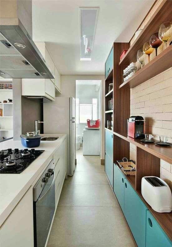 Pin de Elisa Z en House ideas Pinterest Cocina pequeña - decoracion de apartamentos pequeos