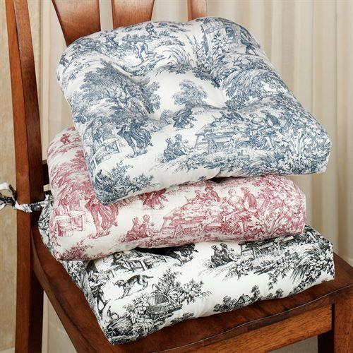 Victoria Park Toile Chair Cushion Set Of 2 Dining Room Chair Cushions Kitchen Chair Cushions Dining Chair Cushions