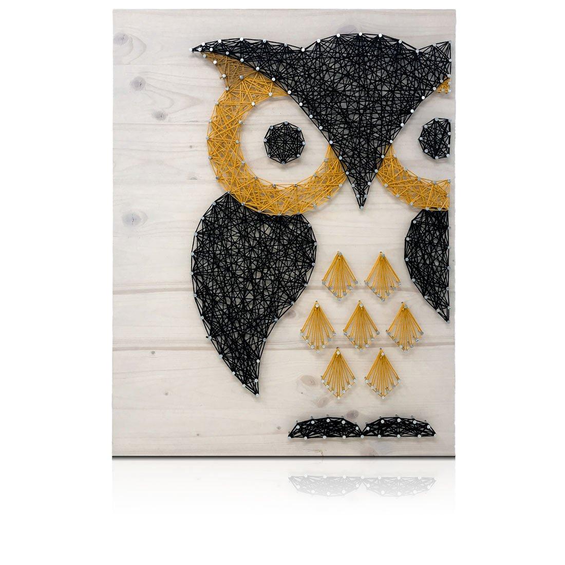 Black and Gold Owl String Art Kit