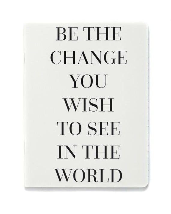 Teresa Collins Be the Change Notebook
