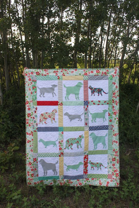 Gingham Dog And Calico Cat Pdf Quilt Pattern Dog And Cat Silhouette