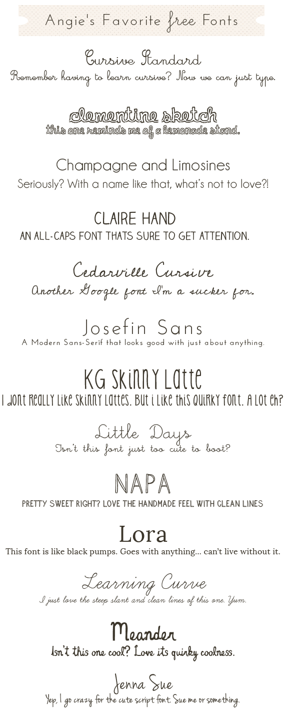 Cute Free Fonts- The Cutest In All The Land   Make The Cut ~~ Fonts