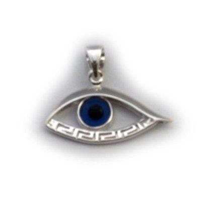 Sterling silver greek key evil eye pendant tattoo pinterest sterling silver greek key evil eye pendant aloadofball Choice Image