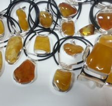 Asian Beauty Pendant - Pendants - amberbeata collections - amber jewelry collections