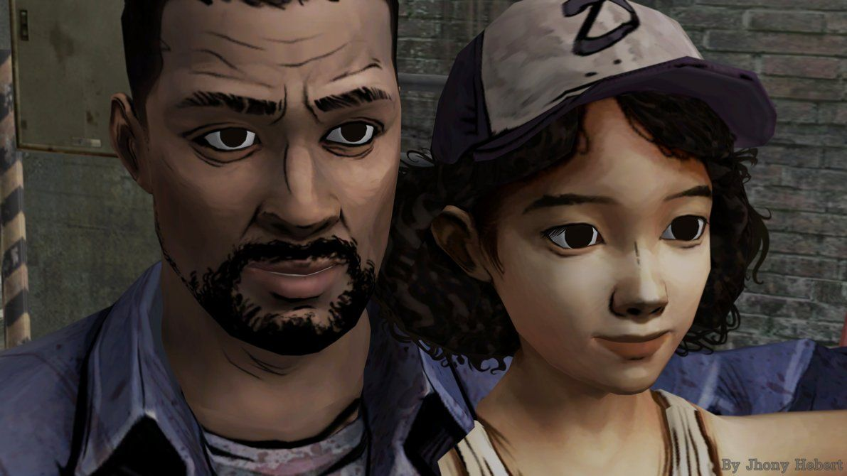 "Lee and Clementine - The Walking Dead by JhonyHebert on ""DeviantArt"""