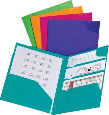 Staples® has the Oxford® Divide It Up® 4-Pocket Folders, Letter - office depot resume paper