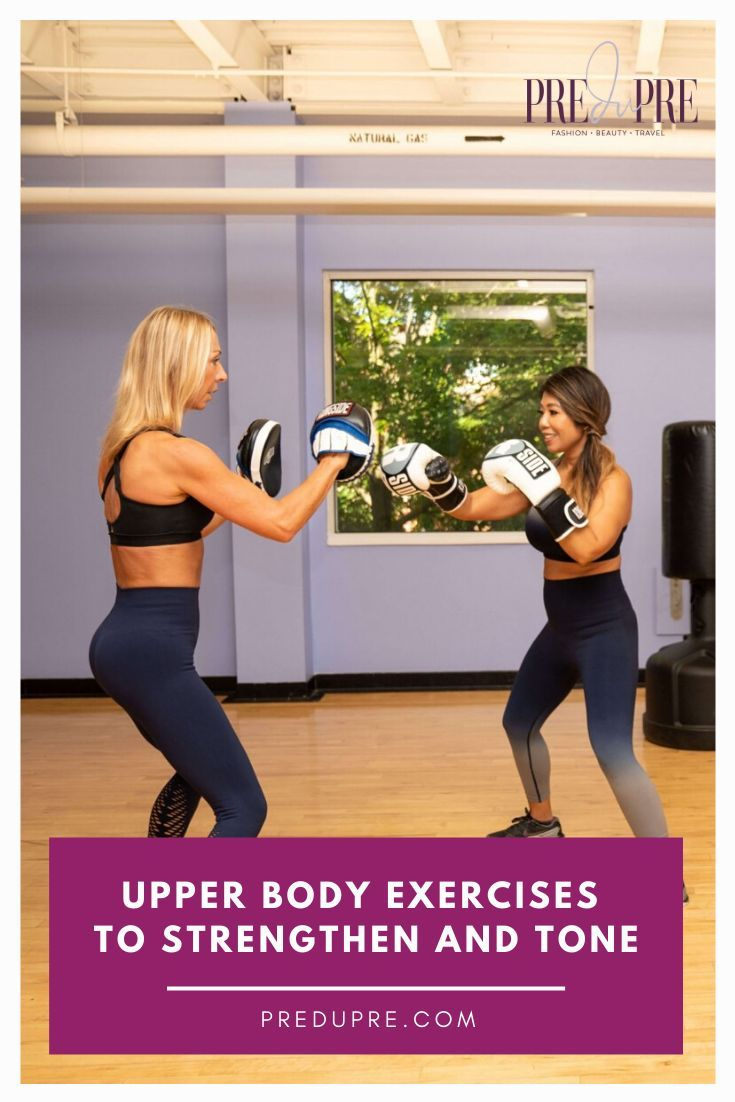 Looking for exercises to improve your upper body? Sabine Evans, a Fit Boxing instructor and fitness...