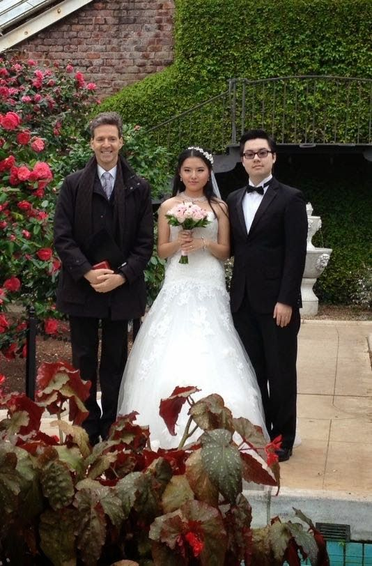Destination wedding officiant