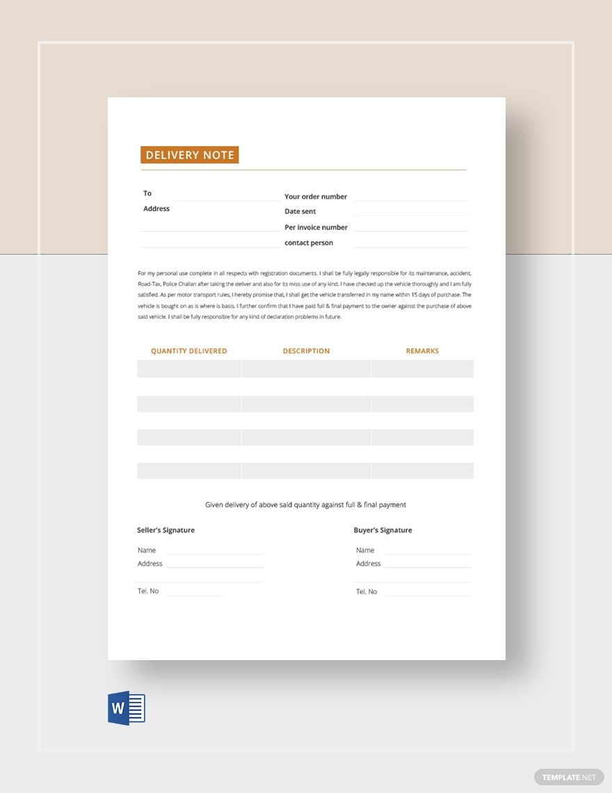 Blank Delivery Note Template Free Pdf Word Notes Template Doctors Note Template Character Reference Letter Template