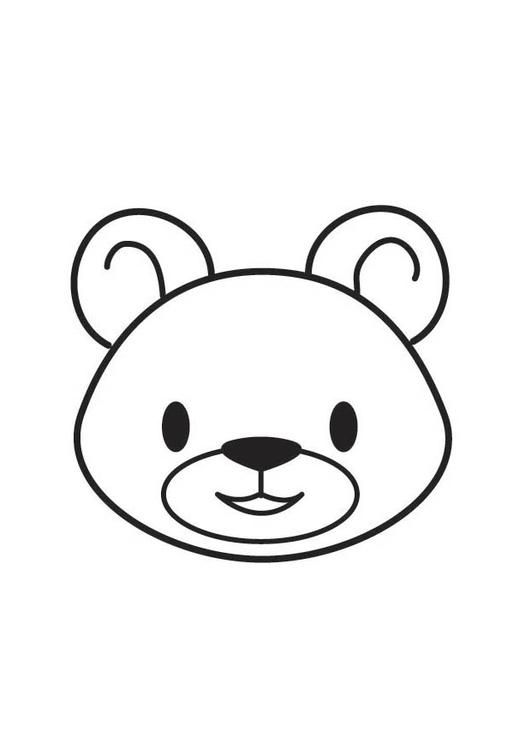 Orso Bear Head Animal Coloring Pages Baby Posters Animal