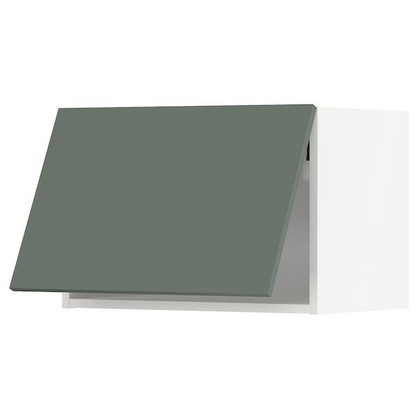 METOD Wall cabinet, touch opening, white / Bodarp gray-green …