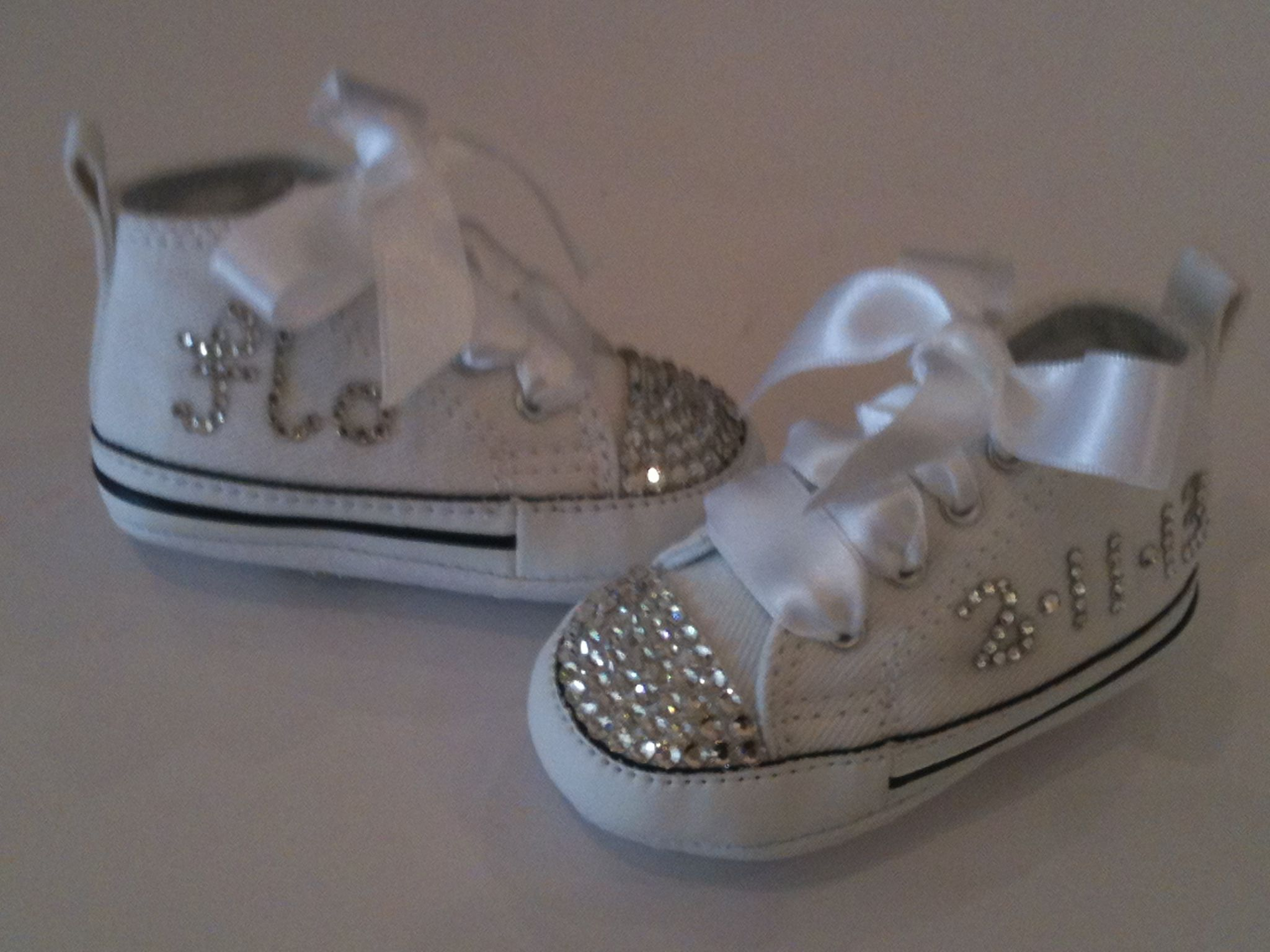 baby converse by crystal shoe creations