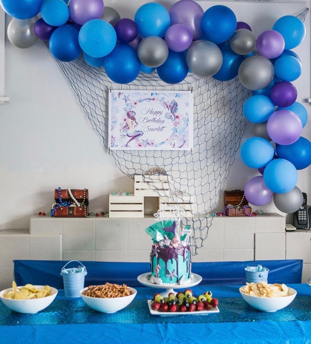 Mermaid Party Kids party food, Mermaid party, Party food