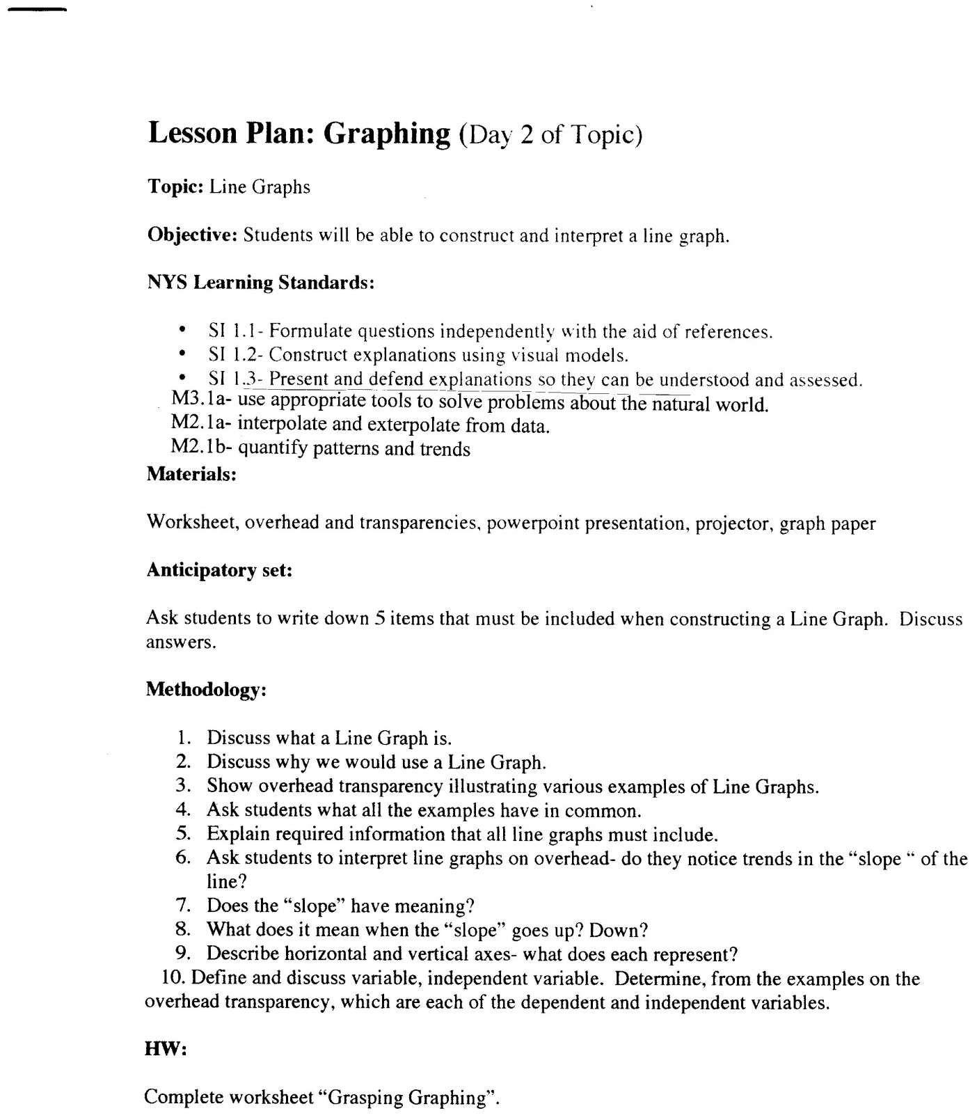 12 Skill Worksheet Science Skills Interpreting Graphs In