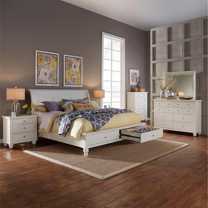ashfield 6piece king storage bedroom set  bedroom set
