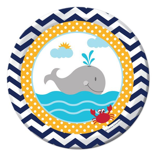 plate whale baby