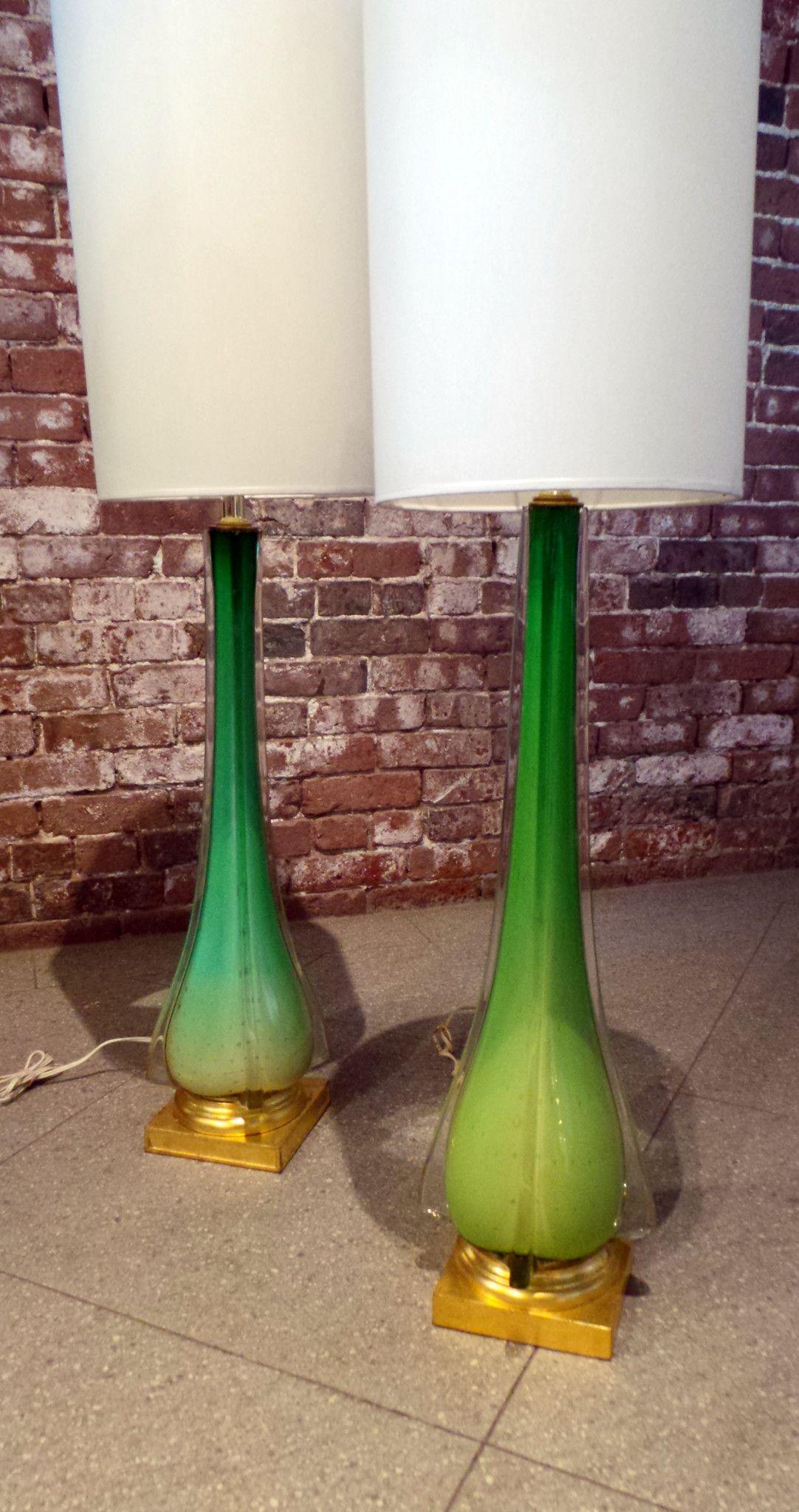 Vintage Italian Murano Glass Lamps