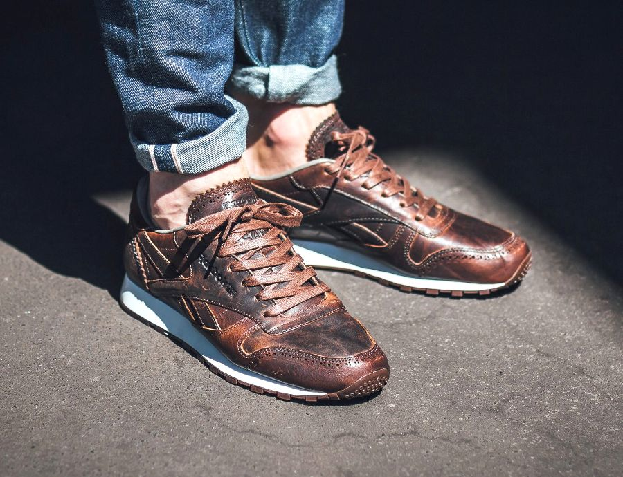 38e744736e7 Reebok Classic Leather Lux Horween  Brogue  Just Brown