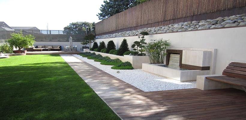 Jardines modernos 6 820 400 dise o jardin for Disenos jardines pequenos modernos