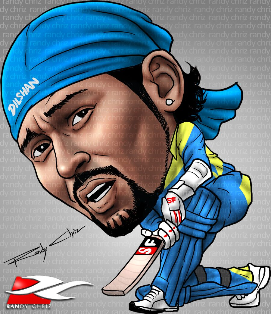 T M Dilshan S Carricature Done For A Newspaper Helabima Uk Caricature Cartoon Pics