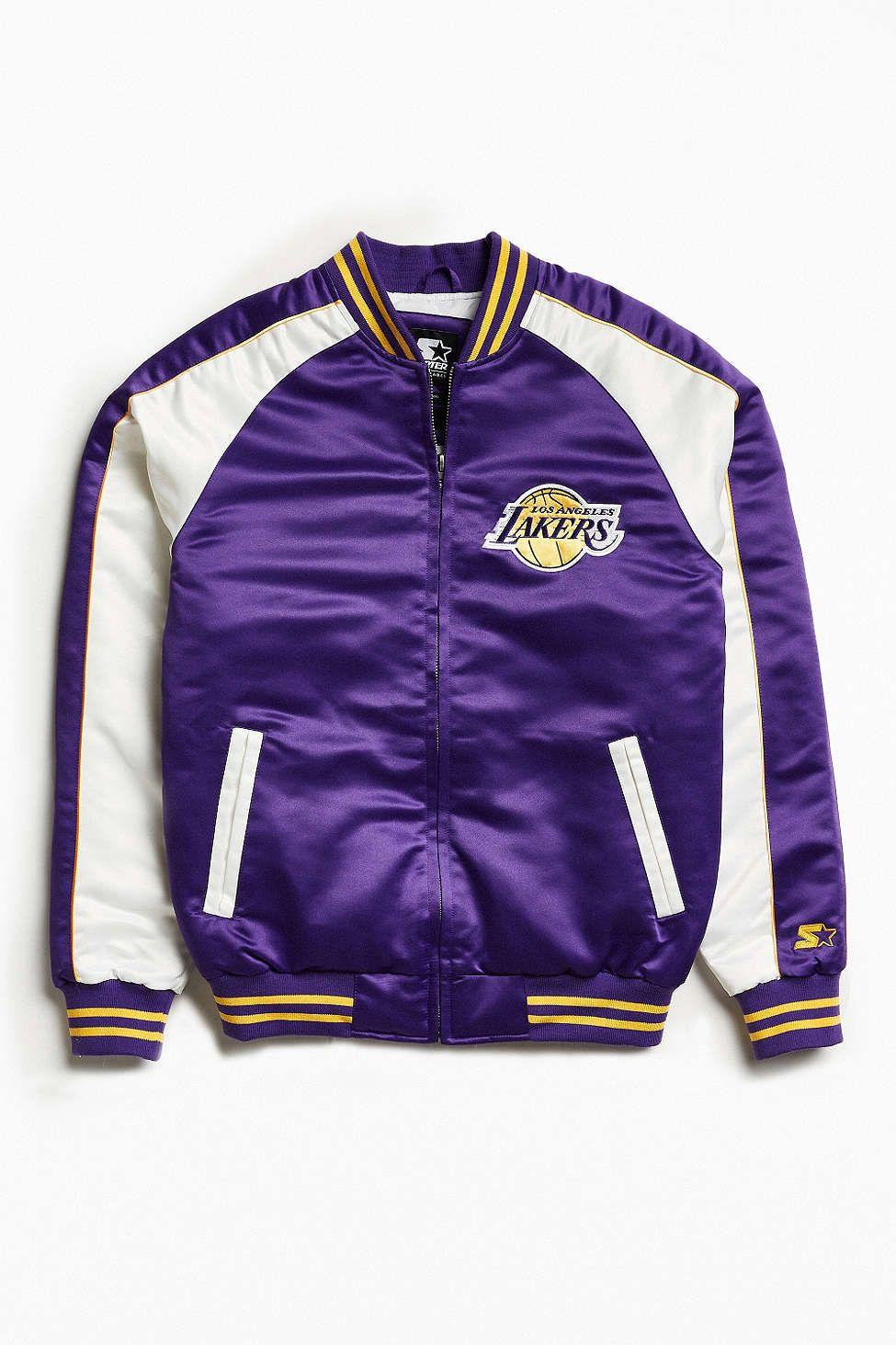 Starter Black Label Uo Nba Los Angeles Lakers Souvenir Jacket Souvenir Jacket Sport Outfit Men Jackets