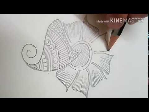 Easy Mehndi Patterns On Paper : How to learn arabic mehndi design first day class youtube