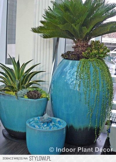 Wysokie Szkliwione Donice W Ciekawych Kolorach Znakomi Na Stylowi Pl Plant Decor Indoor Plant Decor Indoor Plants