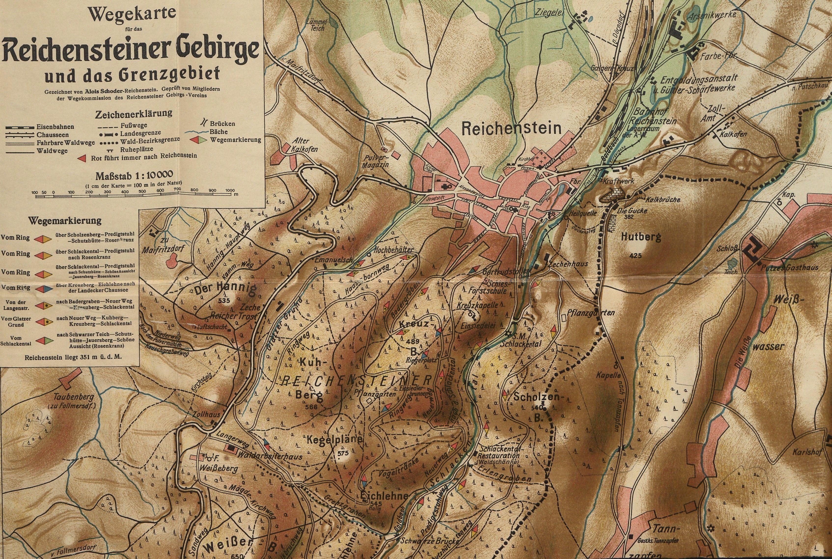 Wg 96 Reichenstein Schlesien Zloty Stok Zabkowicki Powiat Mapa