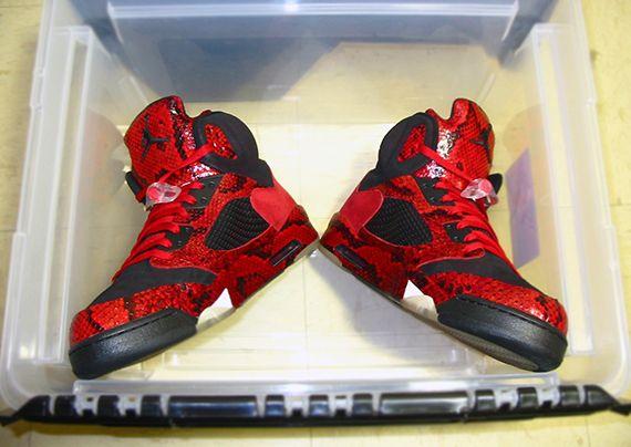 """Air Jordan 5 """"red Spitting Cobra (yots)"""" By Mr"""