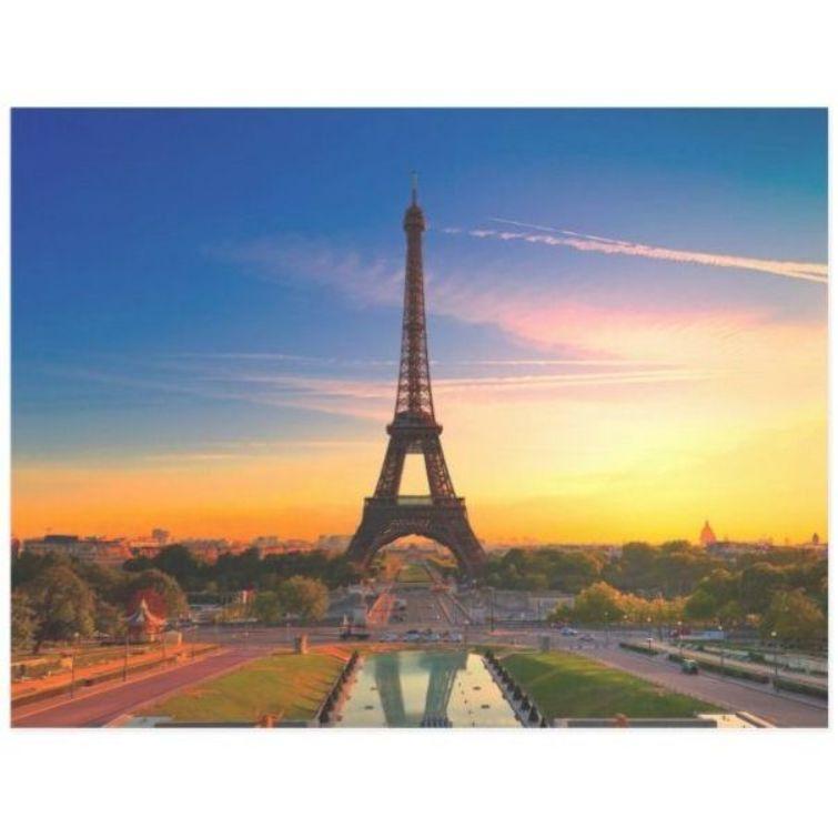 Paris Eiffel Tower Sunset Tourism Art Postcard ,