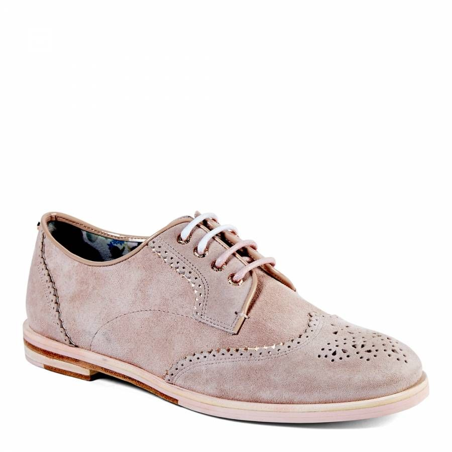 87ca2cc80bbce ... Shoes by BrandAlley UK. Light Pink Suede Allea Brogues - Ted Baker  Footwear Women