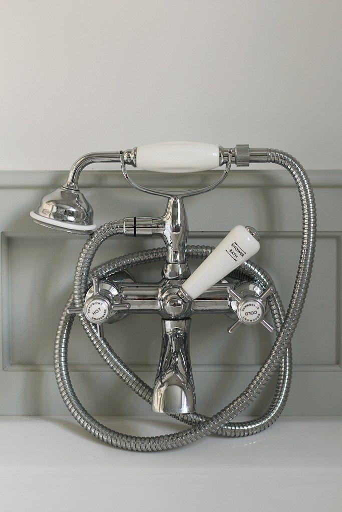A Preppy Perspective bathroom - Blue Grey Farrow & Ball - hudson ...