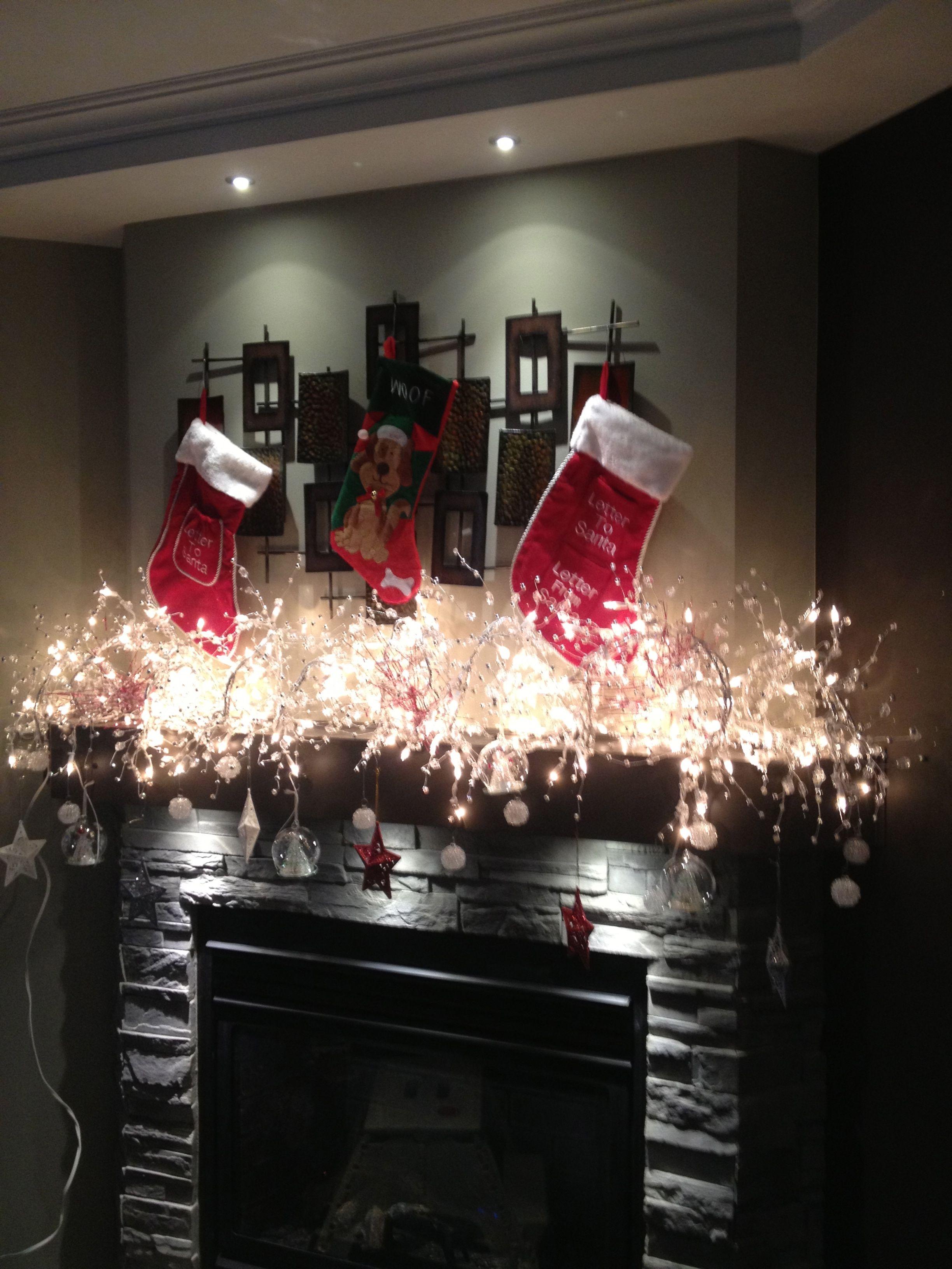 Magnifique Manteau Foyer De Noel D 201 Cor 201 Avec Les Lumieres