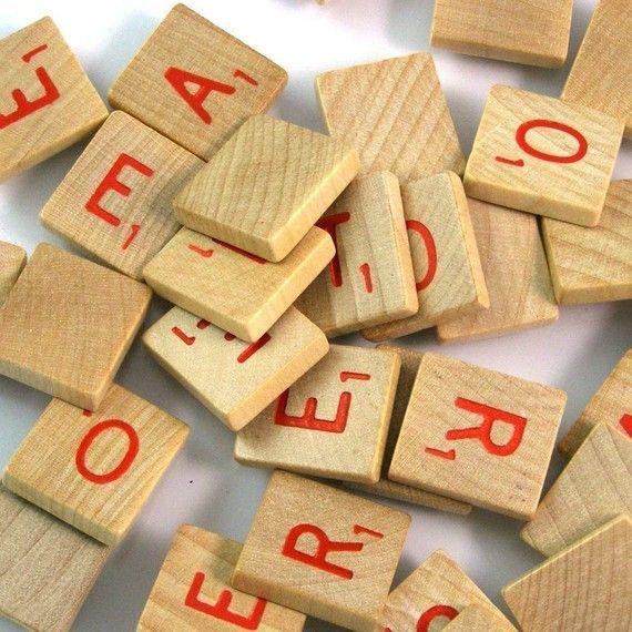 red scrabble letters bulk lot of 20 scrabble letters scrabble