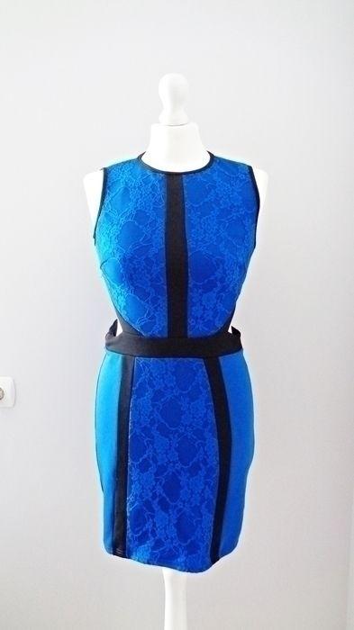 9311da533bed7 Atmosphere piękna kobaltowa sukienka koronka - vinted.pl | Rzeczy do ...