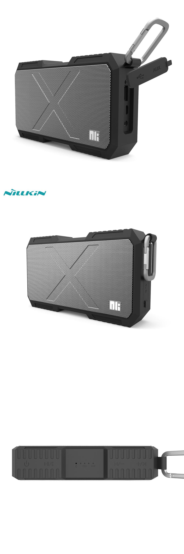 NILLKIN X-MAN Wireless Bluetooth Speaker Wired AUX Port IPX4 Splash ...