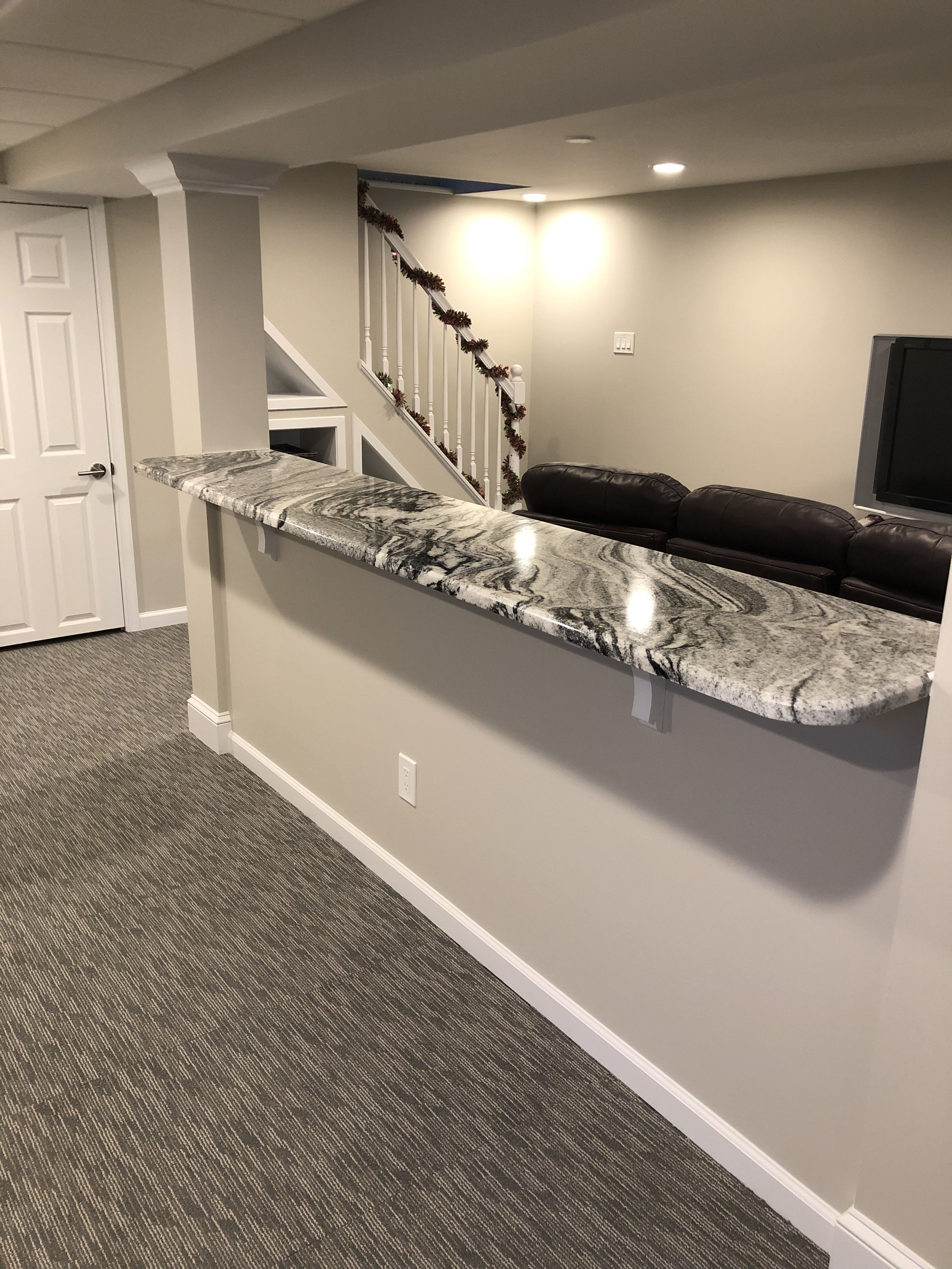 Half Wall Bar With Images Basement Makeover Half Wall Room