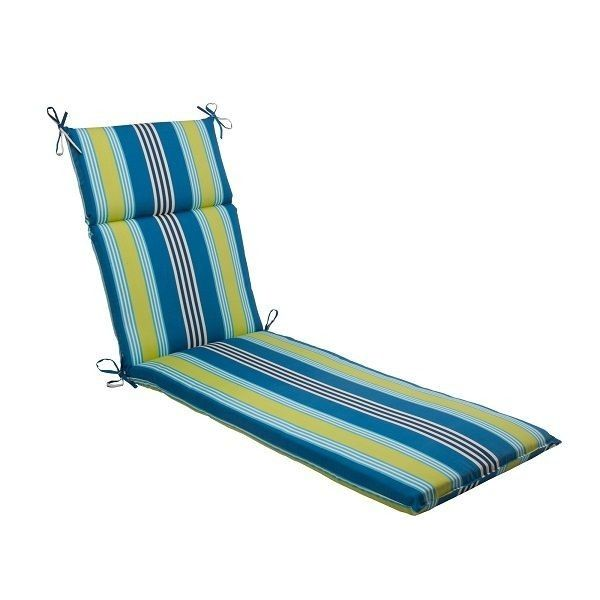 Waverly Beach Blues Outdoor Patio Furniture Chaise Lounge Cushion,patio  Furniture Chaise Lounge Cushion,