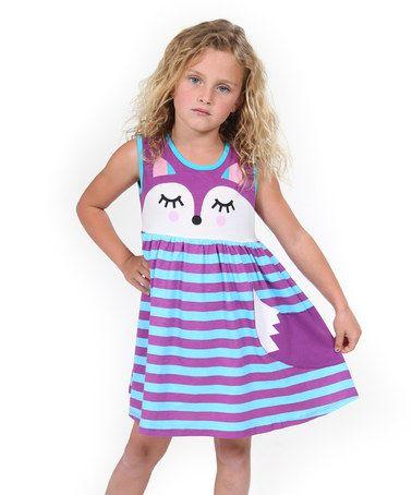 Love this Purple Woodland Friends Fox Dress - Toddler & Girls on #zulily! #zulilyfinds