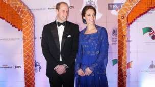Duke and Duchess of Cambridge at Taj Palace Hotel gala in Mumbai