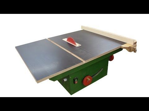 47 My New Homemade Table Saw Wooden Trunnions Youtube Diy Table Saw Homemade Tables Easy Woodworking Diy