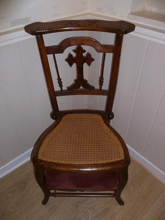 Antique Chair, Prie Dieu, Prayer Chair, French Oak, Victorian, Circa 1880  on Etsy, $337.54 - Antique Chair, Prie Dieu, Prayer Chair, French Oak, Victorian, Circa