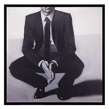Man in black canvas art by type art z gallerie